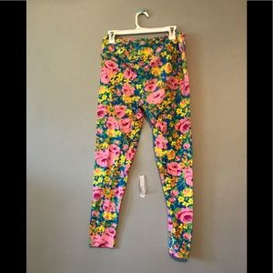 Lularoe floral leggings Tc